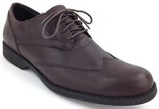 Timberland Brown Fitchburg Wing Tip Leather Oxford  Dress Shoes Mens Sizes 5568A