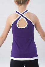 Pizzazz® Layered Look Top w/ Crisscross Back- Brand New