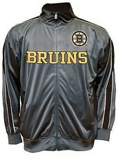 Boston Bruins NHL Mens Full Zip Tricot Track Jacket Big & Tall Sizes
