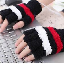 USB Autumn Winter Electric Hand Warmer Heating Heated Plush Gloves