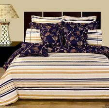 12pc Luxury Bed in a Bag Lillian Striped Design with Duvet Cover & Comforter