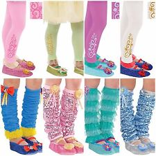 Disney & More FOOTLESS TIGHTS LEG WARMERS Dress-up Halloween Costume Sizes 4-6