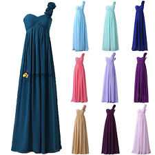 STOCK One Shoulder Formal Wedding Bridesmaid Dress Prom Party Evening Gowns 6-20
