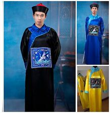 New 2016 Adult Zombie Chinese Style Costume Mens Halloween Fancy Party Dress