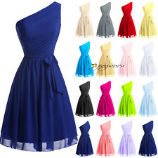 One Shoulder Stock Short Formal Bridesmaid Dresses Prom Cocktail Ball Party Gown