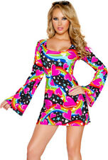 J Valentine heart print long sleeve hippie costume