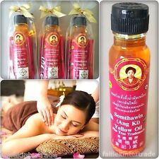 100% NATURAL HERB AROMA SPA MASSAGE MUSCLE PAIN RELIEF SOMTHAWIN THAI YELLOW OIL