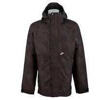 VANS LANDEN INSULATED SNOW JACKET SIZE XL BROWN PATTERNED SNOWBOARD SKI RRP £170