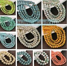 DIY 6/8/10/12mm Round Crystal Jewelry Findings Glass Loose Spacer Beads Crafts
