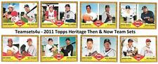 2011 Topps Heritage Then & Now Baseball Team Sets ** Pick Your Team Set **