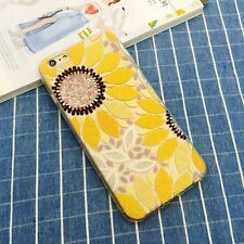 Emboss Sunflower Pattern Ultra Slim TPU Case Cover For iPhone 5/5S 6/6S & 6 Plus