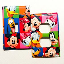 Mickey Mouse Light Switch Cover Outlet Cover Bedroom Bathroom Playroom Decor