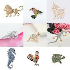 Punk Style Animals Design Crystal Pin Brooch Fashion Jewelry Party Gifts