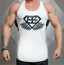 Gym Men Workout Cotton Tank Tops Muscle Stringer Singlets Fitness Shirt Clothes