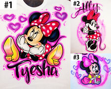 Airbrushed Personalized Minnie Baby Mouse T-shirt Onesie Hoodie Pillowcase