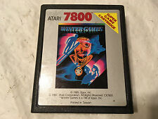 ATARI 7800 Prosystem Video Game Cartridge WINTER GAMES by Atari 1987 Working