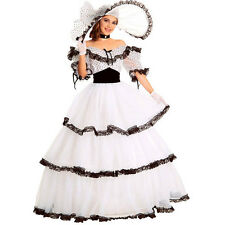 southern belle costume adult halloween fancy white spots gown ball lolita dress