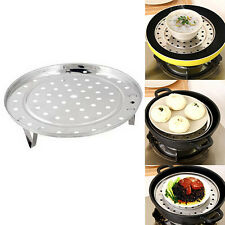 Stainless Steel Steamer Rack Insert Stock Pot Steaming Tray Stand Cookware Dual