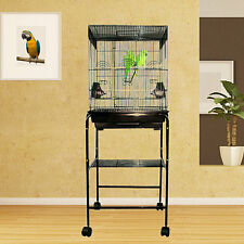 """Kahua Kabin Flattop Bird Cage - 18""""W x 14""""D x 48""""H - With Stand or Without"""