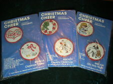 Christmas Cheer Counted Cross Stitch Ornaments Kits