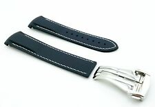 NAVY BLUE 22mm Rubber/Silicone STRAP/BAND FOR OMEGA WATCH SeaMaster PLANET OCEAN