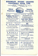 Rare Keighley v Whitehaven 1948 1st season rugby league