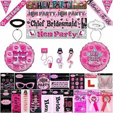 HEN NIGHT PARTY BRIDES MAID BANNER SASH BALLOON BADGE COLLECTION WHISTLE CARDS