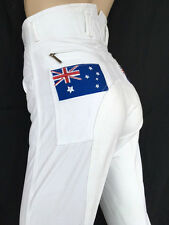 Ladies White Jodhpurs White Breeches Full Seat Suede Lycra Sock Sizes 6-16