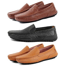 Men's  Peas Shoes Driving Leather Breathable Slip On Casual Loafers Lazy Shoes
