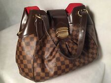 Louis Vuitton Sistina GM Damier Ebene Authentic FREE SHIP Shoulder Bag Canvas A2