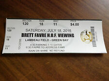 Brett Favre Hall of Fame Viewing Ticket Pictures Lambeau Field Green Bay Packers