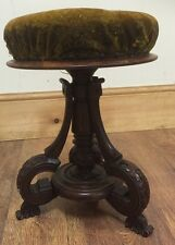 ~Lovely Antique Carved Victorian  Piano / Dressing Table Stool Need TLC