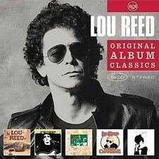 5 DISC CD LOU REED ORIGINAL ALBUM CLASSICS with WALK ON THE WILD SIDE and more