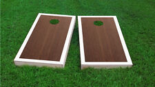 Premium White Border Rosewood Stained Cornhole Board Game Set