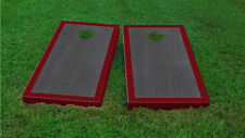 Premium Maroon Border Onyx Stained Cornhole Board Game Set