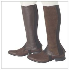 Borraq 50/50 Endurance Gaiter/Chaps  - Half Brown Leather and Half Brown Suede