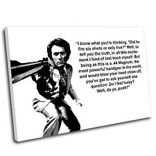 Dirty Harry Canvas Wall Art Print Framed Picture PREMIUM QUALITY