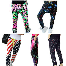 Kids Girls Baggy Harem Pants Hip Hop Dance Jogging Skateboarding Sports Trousers