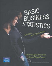 Basic Business Statistics: Concepts and Applications AS NEW Berenson softback