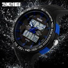 SKMEI Big Dial Men Waterproof Analog-Digital Military LED Sport Wrist Watch L0X0