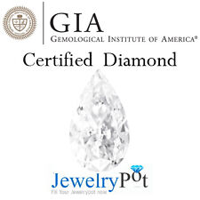 1.55CT D SI1 Pear GIA Certified & Natural Brilliant Diamond Stone (1172288034)