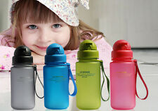 400ml Child Kids Kettle Bottle Childrens Water Bottle BPA Free W/ Silicon Straw