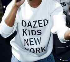Women long-sleeved Printed Letters Dazed Kids New York Sweatshirts T-shirt