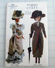 "VOGUE Historical 1900's Coat Dresses Hats 11 ½"" DOLL Pattern 691 OOP NEW Uncut"
