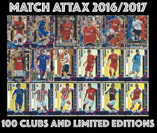 MATCH ATTAX 2016/2017 16/17 CHOOSE YOUR LIMITED EDITIONS AND HUNDRED 100 CLUBS