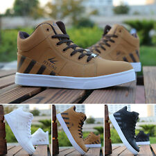 Men's Casual Shoes Trainning Sports Leather Shoe High Top Sneakers Shoes