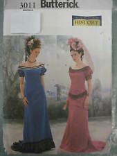 Butterick Sewing Pattern 3011 Ladies Victorian History Dress Period Costume