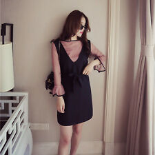 Sweet Round Collar Korean New Autumn Fashion Women Two Pieces Flounced Dress Set