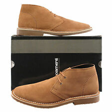 Mens New Sand Real Suede Two Eyelet Lace Up Desert Boots UK 6 - 12