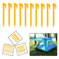 30/20/10/5pcs HEAVY DUTY DURABLE PLASTIC PEGS HOOKS GROUND STAKES TENT CAMPING